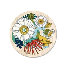 Folk Flowers Coaster Single-artists-and-brands-The Vault