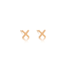 X Studs 18ct Gold Plate Stg-jewellery-The Vault