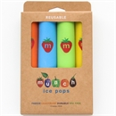 Set of 4 Reusable Ice Pops