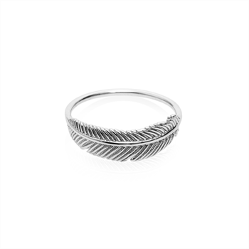 Miromiro Feather Ring Stg Silver Size O