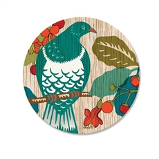 Screen Print Kereru Coaster Single -new-The Vault