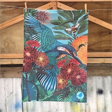 Flox Kingfisher/Kotare Tea Towel #2-new-The Vault