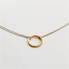 Chained Loop Necklace Gold Plate Plain-jewellery-The Vault