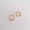 Small Plain Loop Earrings Gold Plate  -jewellery-The Vault