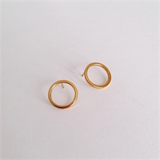 Small Loop Earrings Gold Plate Plain-jewellery-The Vault