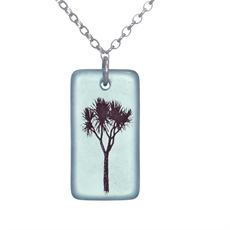 Glass Cabbage Tree Pendant Bombay -jewellery-The Vault