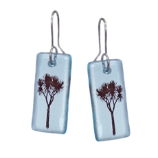 Glass Cabbage Tree Earrings Bombay -jewellery-The Vault