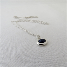Sapphire Pebble Silver Necklace--view-all-new-The Vault