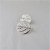 Leaf Disk Earrings Stg Silver-jewellery-The Vault