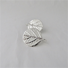 Leaf Disk Earrings Silver-jewellery-The Vault