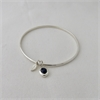 Sapphire & Leaf Bangle Silver-jewellery-The Vault