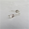 Tiny Leaf Drop Earrings Silver-jewellery-The Vault