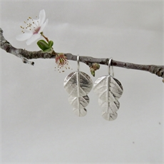 Leaf Disk 3 Drop Earrings Silver-jewellery-The Vault