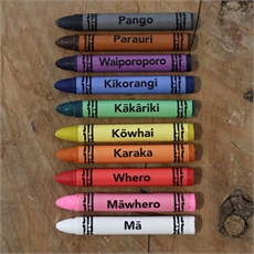 Crayons in Maori & English Pack of 10-child-The Vault