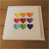 Bright Colour Hearts Card-cards-The Vault