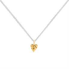 Heart Space Mini Leaf Pendant 9ct -new-The Vault