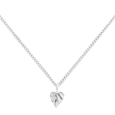 Heart Space Mini Leaf Pendant Silver -new-The Vault