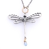 Dragonfly Necklace Silver Mystic Topaz-jewellery-The Vault