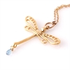 Dragonfly Necklace 14k GP Mystic Topaz -jewellery-The Vault