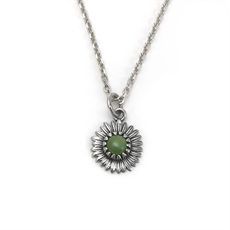 Daisy Necklace Pounamu-jewellery-The Vault