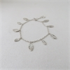 Tiny Leaf Fall Bracelet Silver-jewellery-The Vault