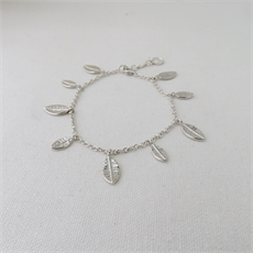 Tiny Leaf Fall Bracelet Silver--view-all-new-The Vault