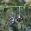 Paua Disc Earrings Stg Silver -jewellery-The Vault
