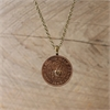 Half Penny Pendant w Brass Heart -jewellery-The Vault