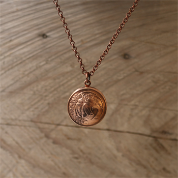 Copper Two Cent Locket