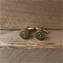 Bullet Head Cufflinks Brass