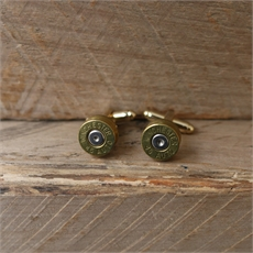 Bullet Head Cufflinks Brass-artists-and-brands-The Vault
