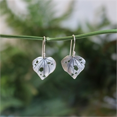 Kawakawa Little Dangles Stg Silver ER-jewellery-The Vault