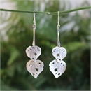 Kawakawa Double Drop Earrings Silver