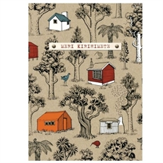 Tramping Huts Meri Kirihimete Card-new-The Vault