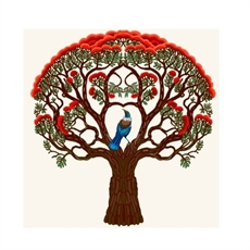 Tui & Pohutukawa Card-new-The Vault