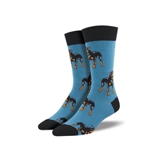 Men's Crew Socks Rottweiler Blue-for-him-The Vault