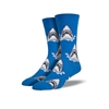 Men's Crew Shark Attack Sock Blue-for-him-The Vault