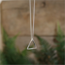 Mobius Triangle Pendant Stg Silver-jewellery-The Vault