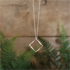 Mobius Square Pendant Stg Silver-jewellery-The Vault
