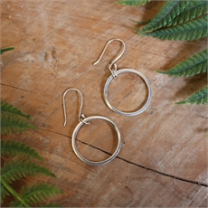 Mobius Round Earrings Stg Silver-jewellery-The Vault
