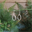 Mobius Round Earrings Stg Silver