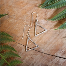 Mobius Triangle Earrings Stg Silver-jewellery-The Vault