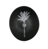 White Nikau on Dark Grey Bowl 10cm-home-The Vault