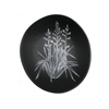 White Harakeke on Dark Grey 10cm Bowl-home-The Vault