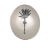 Black Nikau on White Bowl 10cm-home-The Vault