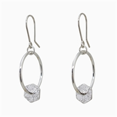Suspend Earrings Silver-jewellery-The Vault