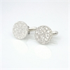 Dimple Cufflinks Stg Silver-for-him-The Vault