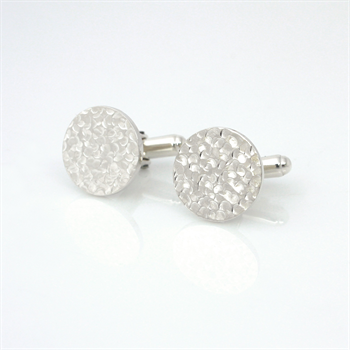 Dimple Cufflinks Sterling Silver
