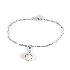 Mother of Pearl Star Charm Bracelet-jewellery-The Vault