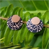 Alum Koru Double Studs Black-jewellery-The Vault
